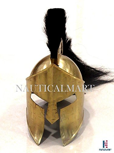 Roman Armour Kostüm 300King Leonidas Spartan Helm mit Schwarz Plume