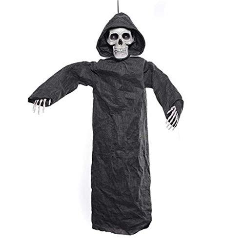 tric Hanging Ghost Scary Horror Skeleton Zubehör Prop kann eine Hüte Glitter Streiche Halloween Toy Ornament tragen ()