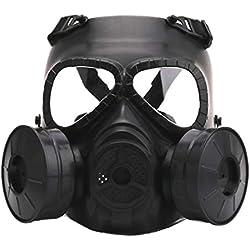 ZinESaya Máscara de Gas Caliente Máscara de respiración Etapa Creativa Rendimiento Prop para Equipo de Campo CS Protección de Cosplay Maldad de Halloween