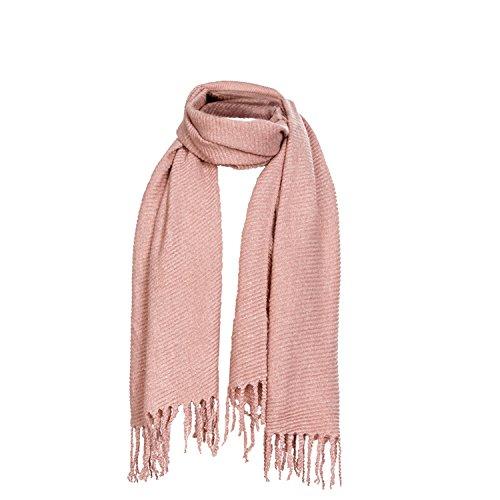 DonDon Winter Damenschal XXL Schal weich einfarbig rosa