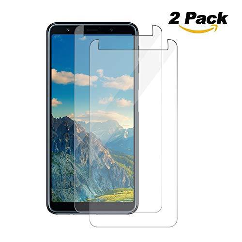 Preisvergleich Produktbild Pomisty Galaxy A7 2018 Panzerglas [2 Stück],  9H Härte,  3D Touch Kompatibel,  Anti-Kratzen Panzerglasfolie,  Schutzglas,  Displayschutzfolie für Samsung Galaxy A7 2018 (style6)