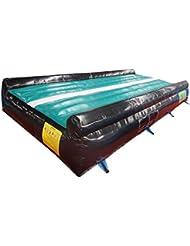 ibigbean secadora pista hinchable Air alfombrilla para gimnasia -10FT ancho 20en altura pvc material, Greenblack1