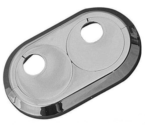 5 Stück Doppel Heizungsrosetten Heizungsmanschetten weiß 20mm