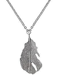 Demarkt Collar colgante de la Pluma de Joyería de accesorios para mujer
