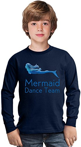 Mermaid Dance Team Funny Slogan Amazing Kids Long Sleeved Shirt by Benito Clothing - 100% Cotton- Ideal For Active Boys-Casual Wear - Perfect For A Present Unisex 9-11 years (Team-t-shirts Dance)
