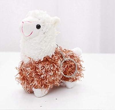 WYBL Bonita Oveja Alpaca Juguetes De Felpa Kawaii Bolsa Mochila Colgante Llavero Relleno Animales Niños Juguetes para Niños Cumpleaños Regalo 12Cm Marrón de WYBL