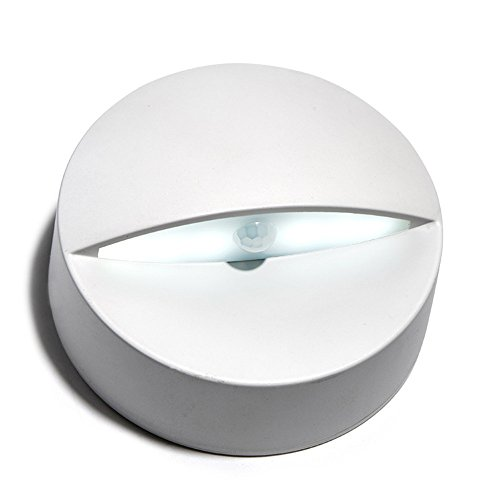 Elektronischer Bewegungs-sensor (Menschlicher körper sensor licht kreisförmigen kunststoff körper bewegung automatische elektronische kreative 80 * 80 * 30 (mm), ist weiß)