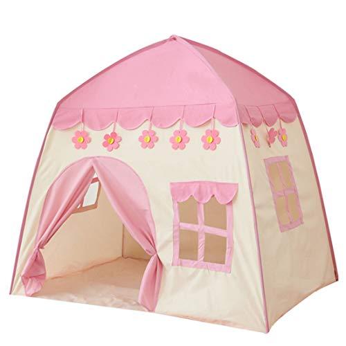LWKBE Kids Play Tent Castle Großes Tipi-Zelt für Kinder Tragbares Spielhaus Kinderhaus Fort Indoor Outdoor-Einsatz mit Tragetasche für Jungen und Mädchen Pink Blue,Pink (Tipi-zelte Den Outdoor-einsatz Für)