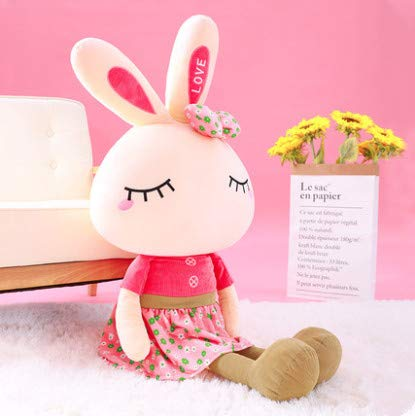 Cute Rabbit Plush Toy Female White Rabbit Doll Child Cute Pillow Birthday Gift Small Doll Doll Girl Pink - White Rabbit Girl Kostüm