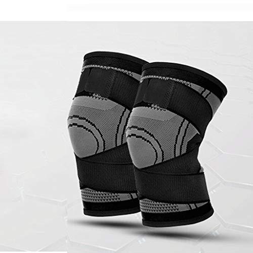 Qinmo Komprimierte Knie-Ärmel - am besten für die Unterstützung des Knies bei Meniskusrissen, Arthritis, schnelle Genesung usw. - geeignet für Laufen, Leichtathletik, Basketball und andere Sportarten
