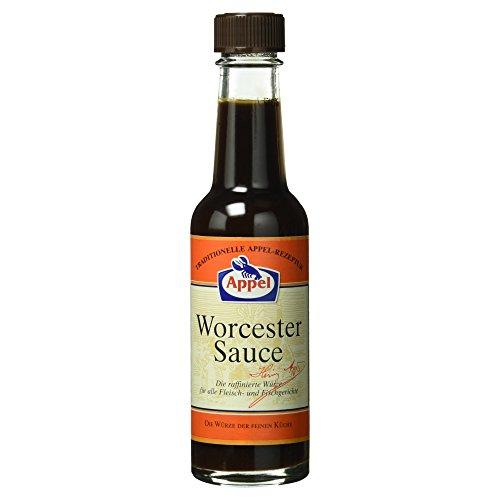 Appel Worcester Sauce, raffinierte Würze für alle Fleisch- und Fischgerichte der feinen Küche, 140 ml