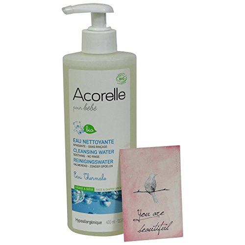 Acorelle Baby- Acqua Detergente Senza Risciacquo Ipoallergenica - Con Acqua Termale e Aloe Vera - Deterge e Lenisce la pelle