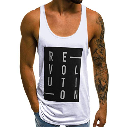 Camisetas sin Mangas de Escalada para Hombre Letras Impresión Camisa  Tirantes Deportes Sudaderas Slim Fitness Moda 49d55436a