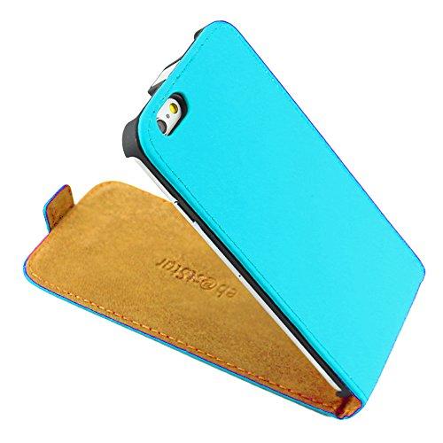 """ebestStar - pour Apple iPhone 6S 6 Plus écran 5,5"""" - Housse Coque Etui à rabat PU cuir ULTRA FIN (ultra slim case) + Stylet tactile, Couleur Rose [Dimensions PRECISES de votre appareil : 158.1 x 77.8  Bleu"""