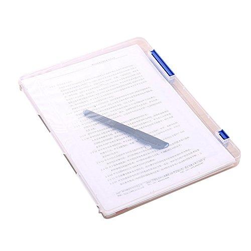Dtuta Staubdicht Und Einfach Zu Organisieren A4 Transparente Aufbewahrungsbox Aus Transparentem Dokumentenpapier