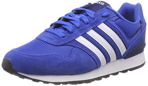 adidas 10K, Scarpe Running Uomo, Blu Blue/Ftwwht/Dkblue, 40 2/3 EU
