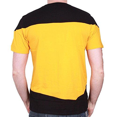 Maglietta a maniche corte, da uomo, motivo: Star Trek-Uniform Kirk, colore: giallo Giallo