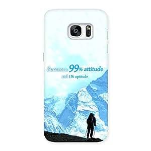 Premium Attitude Success Back Case Cover for Galaxy S7 Edge