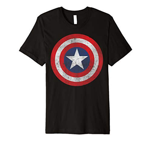 Marvel Captain America Classic Shield Graphic T-Shirt (Captain Kinder America-shield)