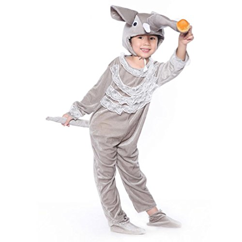 Honeystore Kind's Unisex Elefant-Kleinkind Kostüme Jumpsuit Pyjamas Tier Siamesische Kleidung (Ideen Zwillinge Kostüm Siamesische)