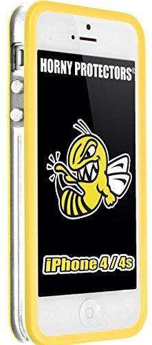 Horny Protectors Bumper für Apple iPhone 4/4S transparent/grün mit Metallbutton transparent/gelb