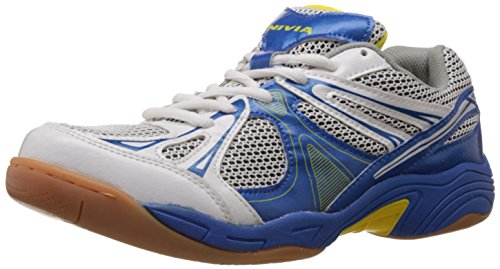 Nivia Men's Silver, White and Aster Blue Badminton Shoes - 6 UK (413)