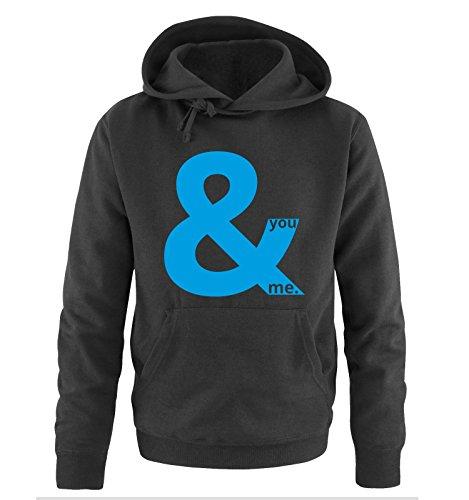Comedy Shirts -  Felpa con cappuccio  - Maniche lunghe  - Uomo Black / Blue