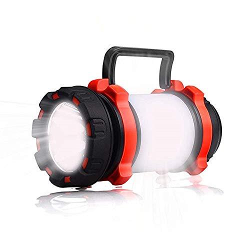 WOTR Lanterna da Campeggio all'aperto, Torcia a LED Ricaricabile IPX4 torce a Lanterna Impermeabile 600lm, riflettore Multifunzionale 3 in 1 per Campeggio Come Banca di Emergenza
