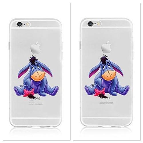 New Disney trasparente Winnie-the-Pooh & friends;7dwards character trasparente in poliuretano per iPhone-Cover per Apple iPhone 5, 5S, 5C, 6/6S plastica, (iphone 7, EEYORE)