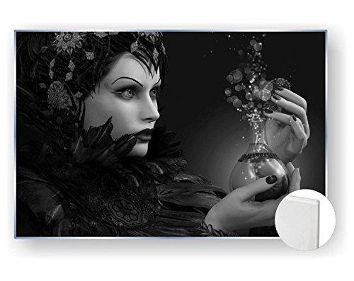 ld Bild 5mm edel Gothic Hexe Magie Zauber Trank Farbe schwarz weiß, Größe 60 x 40 cm ()