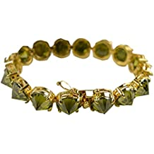 Lanfan Brass Ambiental grado transparente circon brazalete de oro