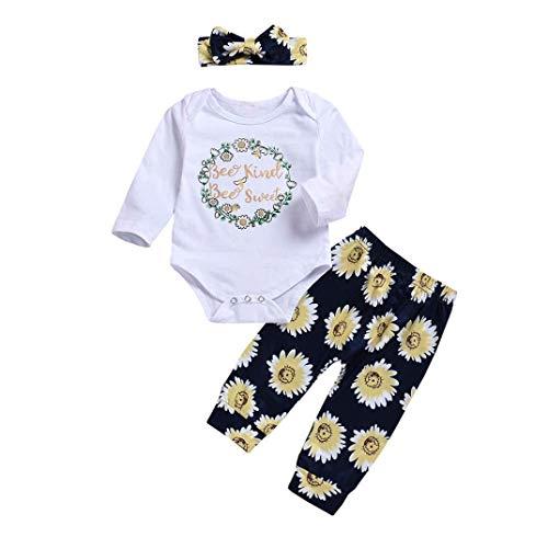 Feixiang® ragazze pagliaccetti + pantaloni + cravatta a farfalla, da neonato bambino e bambina, tutine tute lettera stampa per bambini body pagliaccetto romper tuta jumpsuit