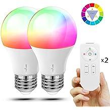 Sengled Paint Ampoule E27 LED RGBW Couleur contrôlée Via Télécommande sans Fil, Lamp d'ambiance avec 16 Couleurs Changeables, 2W, lot de 2