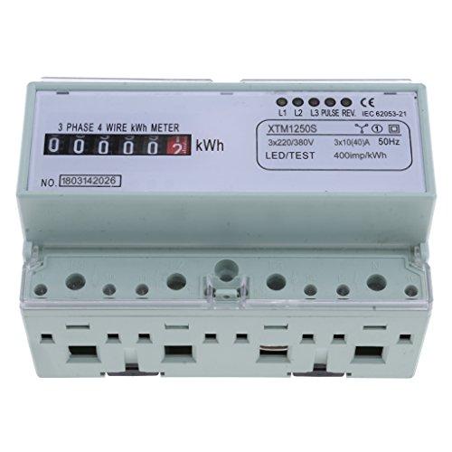 Almencla 3 Phase 4 Draht KWh Meter DIN Schiene Leistungsmesser Energie Elektronische Meter -