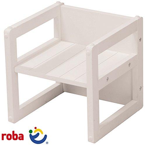 Tische Kindermöbel Kinder Schreibtisch (Roba Sitzhocker, Nutzbar als Stuhl oder Tisch, Weiß, 30 x 30 x 30 cm: Kinder-Tisch Stuhl Kindermöbel, Möbel Kindertisch Kinderstuhl Holz Weiß Verwendungsmöglichkeiten als Schreibtisch, Ruhemöbel usw.)