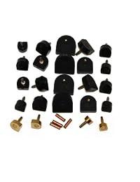 Talon Bouts 12 paires kit pour chaussure réparation - Dowel Haussement Rechange pour Talon Haut, Cordonnier qualité ! by Langlauf
