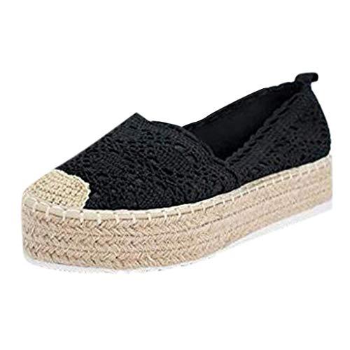 EERTX - ♛♛Damenschuhe Sommer Freizeitschuhe Plateau Sneaker mit Keilabsatz Atmungsaktiv Sommer Wedge Plateau Frauen Espadrilles -