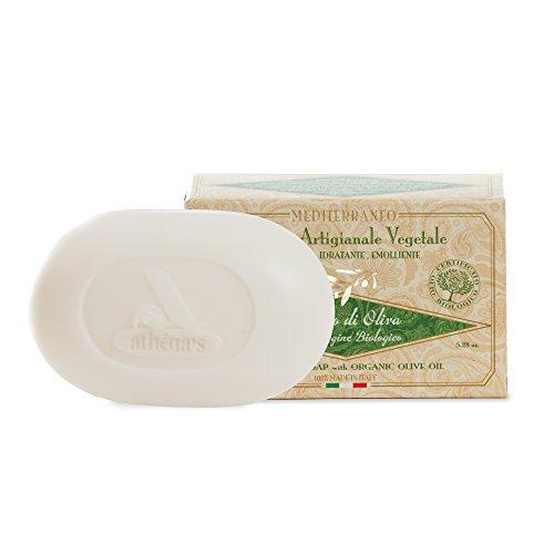 Mittelmeer handwerkliche Seife vegetale- Olivenöl Extra natives Bio–180Gramm (Athena-bad)
