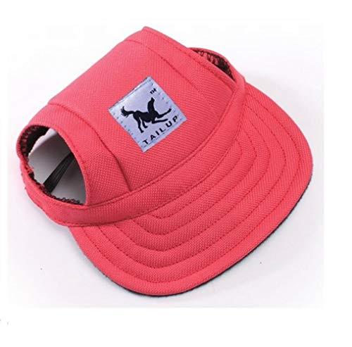 (BaBaSM Einfach Sommer Leinwand Welpen Kleine Haustier Hund Katze Visor Hut im Freien Sunbonnet Baseball Cap (rot S))