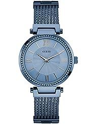 Guess Damen-Armbanduhr Analog Quarz Edelstahl W0638L3