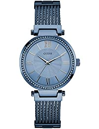 Guess Damen-Armbanduhr Ladies Dress Analog Quarz Edelstahl W0638L3
