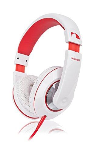 Pink Blau Und Beats (Nakamichi NK 780 Over-Ear Stereo Kopfhörer (1,5 m, 3,5 mm Klinkenstecker, 85dB) rot)