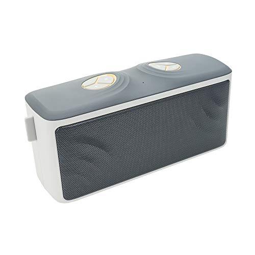 PNI BT600 Tragbarer Lautsprecher Boombox BT100 mit Bluetooth, FM Radio und AUX Weiß Bt100 Bluetooth