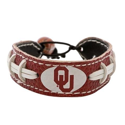 Oklahoma Sooners Team Color Football Bracelet