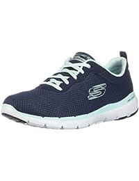 Skechers Damen Flex Appeal 3.0-13070 Sneaker, Blau (Navy Aqua Nvaq), 39 EU