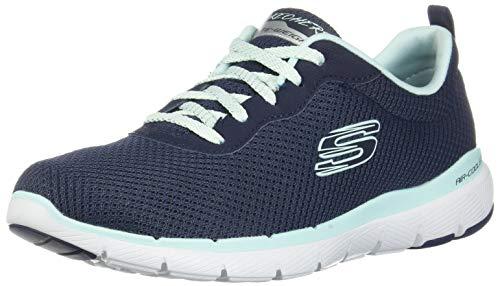 Skechers Damen Flex Appeal 3.0 Sneaker, Blau (Navy Aqua Nvaq), 39 EU -