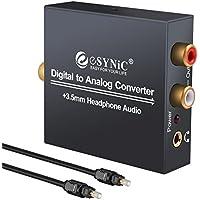 Convertisseur adaptateur audio numérique DAC vers analogique RCA L/R 3,5mm Sortie casque stéréo avec câble optique pour casque PS3 Xbox360 HDTV DVD Blue Ray Sky HD Apple TV