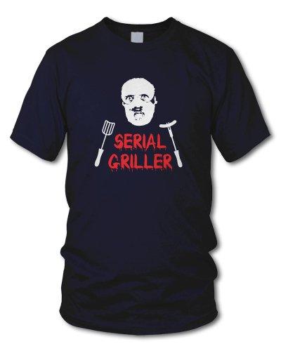 shirtloge - SERIAL GRILLER - KULT - Fun T-Shirt - in verschiedenen Farben - Größe S - XXL Navy
