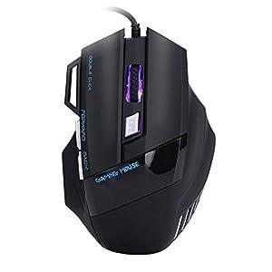 Bewinner Kabelgebundene optische Mäusemäuse, ergonomisches Design/High-End-Optik/Lange Lebensdauer der Schalter Computerspielmäuse für Gaming-Profispieler, Computermaus