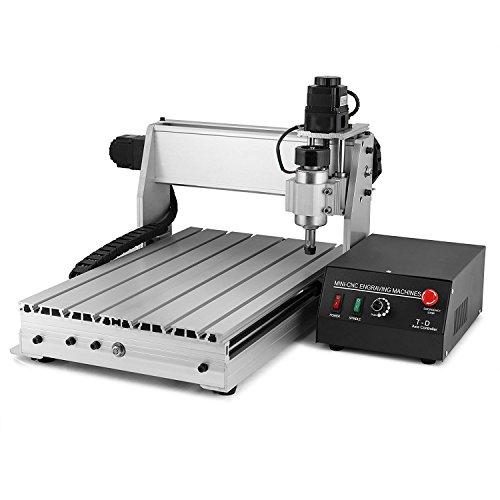 ZauberLu CNC Graviermaschine 3040T-DQ 3-Achsen Gravur Maschine Mit USB-Funktion 4MM Engraver Machine Fräsmaschine für Metall Glas Holz Stein - Maschine Carving Stein